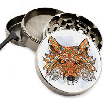 "Native Fox - 2.5"" Premium Zinc Herb Grinder"