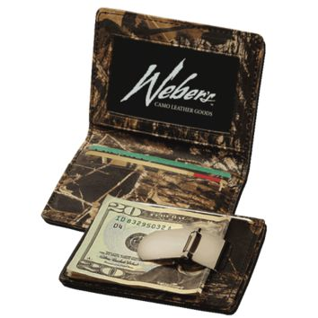 Camo Leather Front Pocket Wallet