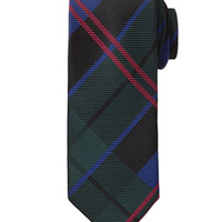 Plaid Neck Tie Green/Black One