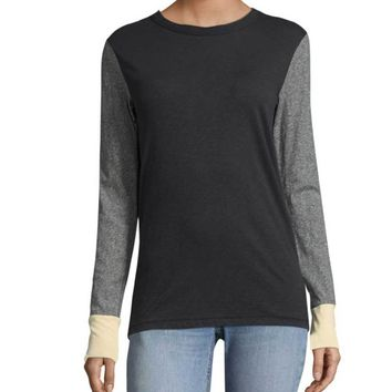 Rag & Bone/Jean Panel Colorblocked Long Sleeve Shirt
