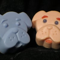 dog soap ( 2 ) - baby shower favors - pets - animal soap - party favors - kids bathroom soap - handmade soap - Pick your Color and Fragrance