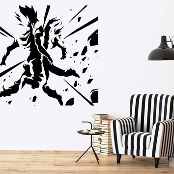 Vegeta & Goku Dragon Ball Z Cartoon Anime Decor Wall Mural Vinyl Sticker Unique Gift M437