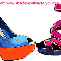 ladies high heel shoes art clipart png download digital image graphics printable fashion artwork home decor living room bedroom salon art