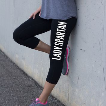 Lady Spartan Black Fitness Legging