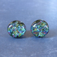 Dichroic Earrings, Post Earings, Hypoallergenic, Etsy Fashion Earrings, Gift for Girlfriend - Alaska - 2205 -3