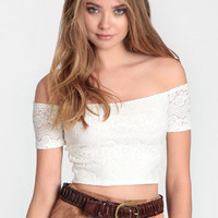 Seeking Solace Lace Crop Top - $26.00: ThreadSence, Women's Indie & Bohemian Clothing, Dresses, & Accessories