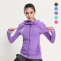 Women's Quick-Dry Long Sleeve Running Jackets