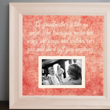 grandma picture frame grandmother gift grandparent personalized frame wooden frame square frame