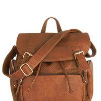 ModCloth Boho Visualize Victory Backpack in Caramel