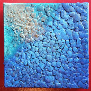 Abstract Art - Acrylic Abstract Painting - Peaceful Painting - Blue Painting - Textured Painting - Mixed Media Painting