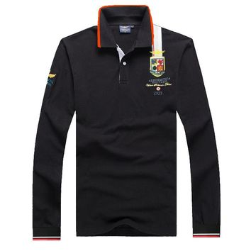 Aeronautica Militare Men Fashion Long Sleeve Polo Shirt - Best Deal Online