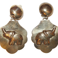 Bronze Elephant Earrings