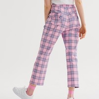 Lazy Oaf Bow Bum Check Trousers - Everything - Categories - Womens