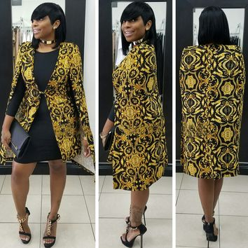 Gold and Black Retro Blazer for Party
