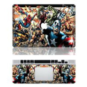"Vati Leaves Removable The Avengers Protective Full Cover Vinyl Art Skin Decal Sticker Cover for Apple MacBook Pro 13.3"" inch (A1278)"