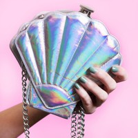 Round Flask Mermaid Seashell Flask Purse