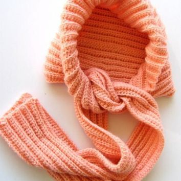 Coral Hooded Scarf-A Scoodie