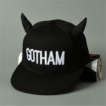 GOTHAM  Horn Embroidery children's casual hip-hop hat snapback