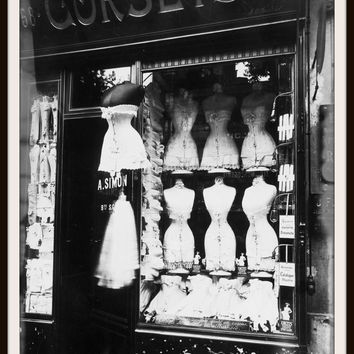 "Photograph Wall Decor ""Vintage Paris Corset Shop 1912""   8 x 10 Photo Print  Unframed"