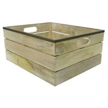 Storage Bin - Wood - Smith & Hawken™ : Target