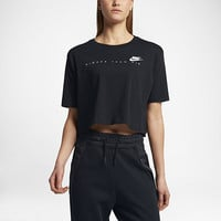 "The Nike Sportswear ""Higher Than Air"" Cropped Women's Short Sleeve Top."