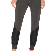 Beyond Yoga Easy Rider Moto Sweatpant in Charcoal Heather Grey | REVOLVE