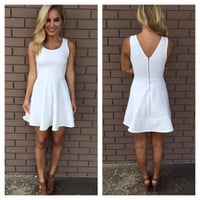 White Bamboo Skater Dress
