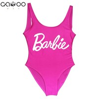 Barbie New 2018 Sexy Swimwear One Piece Swimsuit Swimming Bodysuit Beach Bathing Suits Swim   Wear sexy one piece swim suits