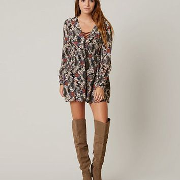 FREE PEOPLE STEALING FIRE HENLEY DRESS