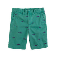 crewcuts Boys Embroidered Stanton Short In Sharks