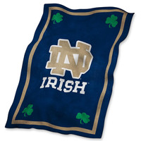 Notre Dame Fighting Irish NCAA UltraSoft Fleece Throw Blanket (84in x 54in)