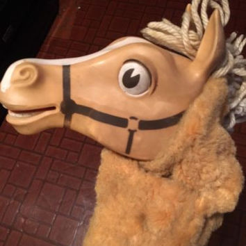 Vintage 1962 MR Ed Talking Horse Hand Puppet Pull String by Mattel