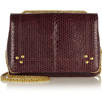 Jérôme Dreyfuss - Eliot watersnake and leather shoulder bag