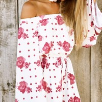 Polka Rose Playsuit - Playsuits by Sabo Skirt