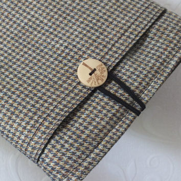 iPad Mini Sleeve iPad Mini Case Cover Padded iPad Mini - Brown Houndstooth