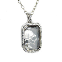 Hidden Skull Clear Jewel Necklace Gothic Pirate Treasure Anime Cosplay Halloween