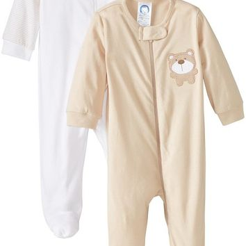 Unisex Baby 2 Pack Zip Front Sleep 'N Play
