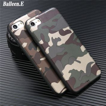 Balleen.E Phone Case For iPhone 6 6s Plus Newest Army Camo Camouflage Soft TPU Fundas Luxucy Back Cover Case For iPhone 6