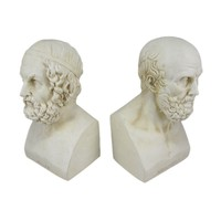 Aristotle And Homer Bust Bookends Greek Philosophy