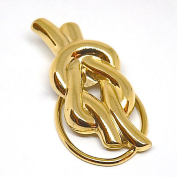 Hercules Knot Scarf Clip,Vintage Scarf Ring,Gold Tone Scarf Clip,Love Knot Scarf Holder,Scarf Jewelry,Reef Knot Scarf Ring,Scarf Accessory