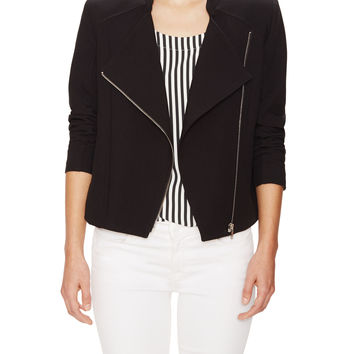 The Letter Women's Twill Motocycle Jacket - Black -