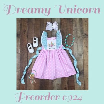 Dreamy Unicorn Flutter Dress!! Preorder 0924* Closes 4/6 @8pm est!! ETA 6-8 Weeks!!
