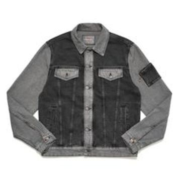 DENIM JACKET W/ REVERSE FABRIC
