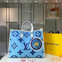 HCXX 19Aug 626 Louis Vuitton LV M44571 Onthego Print Handbag Large-capacity Tote Bag Shopper 41-34-19cm