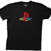 PlayStation Logo Video Games Licensed Cotton Adult T Shirt