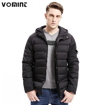 Vomint 2017 New Men Down Coat Heavy-weight Long Length Sleeve Pocket Solid Color Regular Fit 80% Down Warm Coats Male O6VI9079