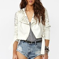 Spiked Moto Crop Jacket