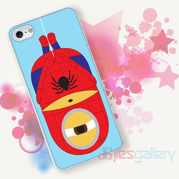 Cute Minions Spiderman for iPhone 4/4S, iPhone 5/5S, iPhone 5C, iPhone 6 Case - Samsung S3, Samsung S4, Samsung S5 Case