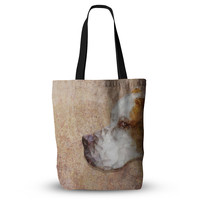 "Ancello ""Abstract Beagle"" Brown Geometric Everything Tote Bag"