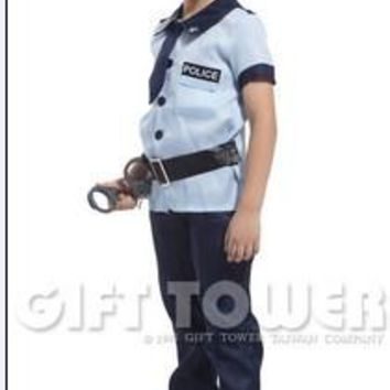 free shipping handsome police cosplay costumes for boys halloween cosplay costumes for kids children cosplay costumes